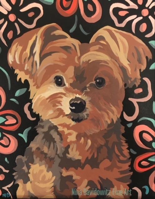 """Portrait of Petunia"", acrylic on canvas, 11"" x 14"", 2017"