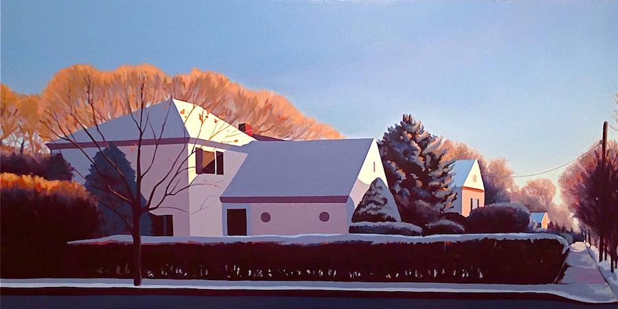 """Crystal Morning"",30"" x 24"" x 1"", acrylic on canvas, Nina Davidowitz 2013."