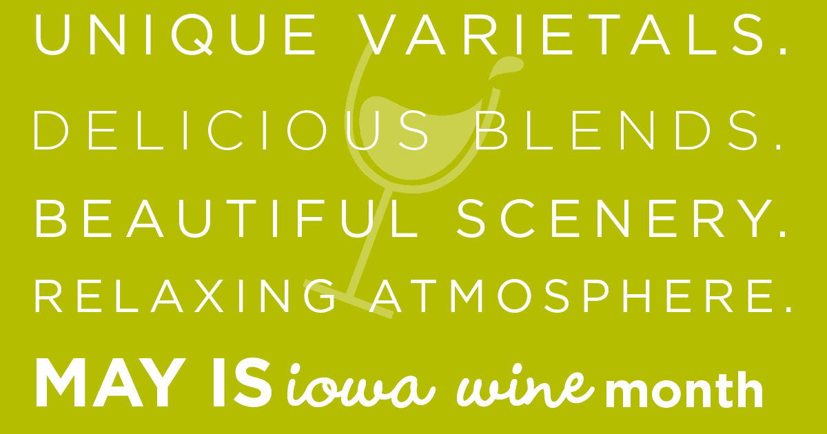 may is iowa wine month