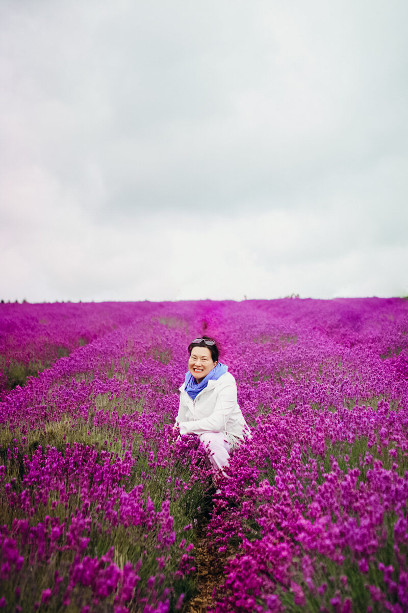 Me in a field of lavender in England