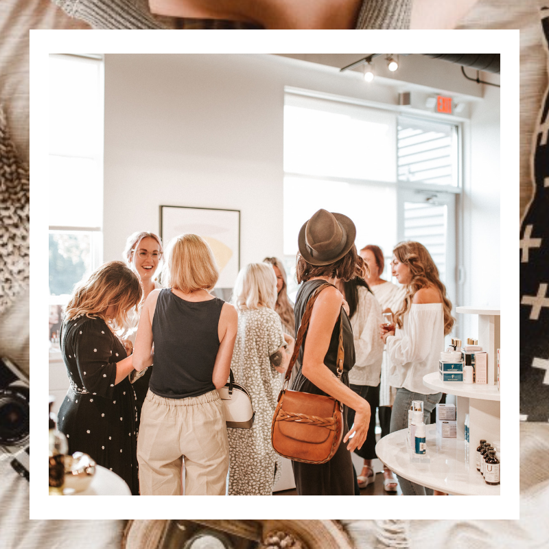 Join Our Community - We love hosting skin care and self-care workshops and events. We love collaborating with like minded individuals & brands.