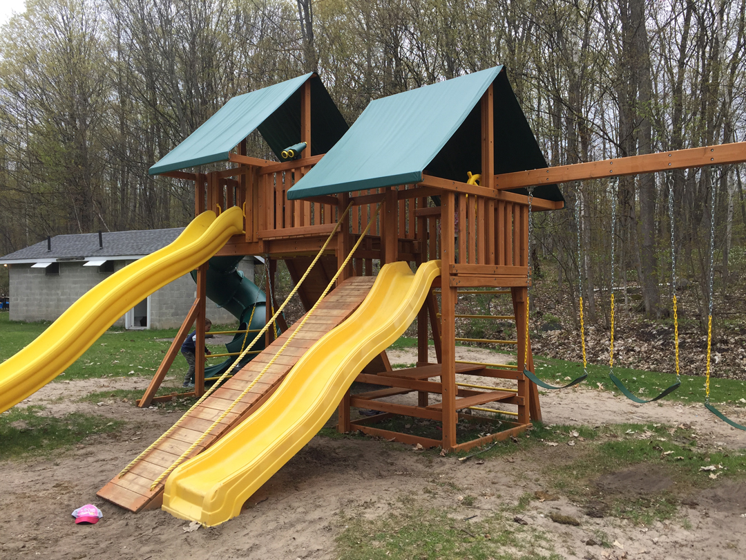Professionally built playgrounds