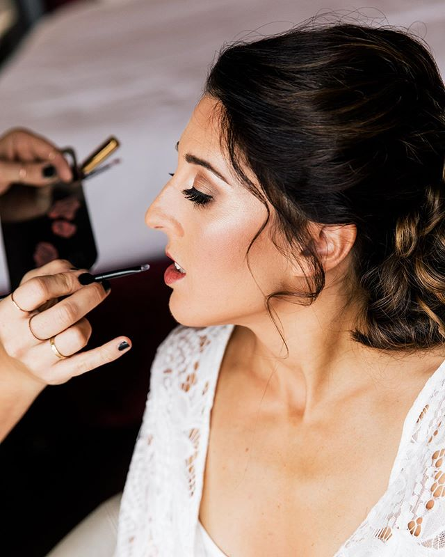 The lip shot. One of our very favorites. 🤗💄 Makeup by Joanna • Photo @anastasiiaphotography • Hair @salonzhenya • Gorgeous Bride @mazzarellam11
