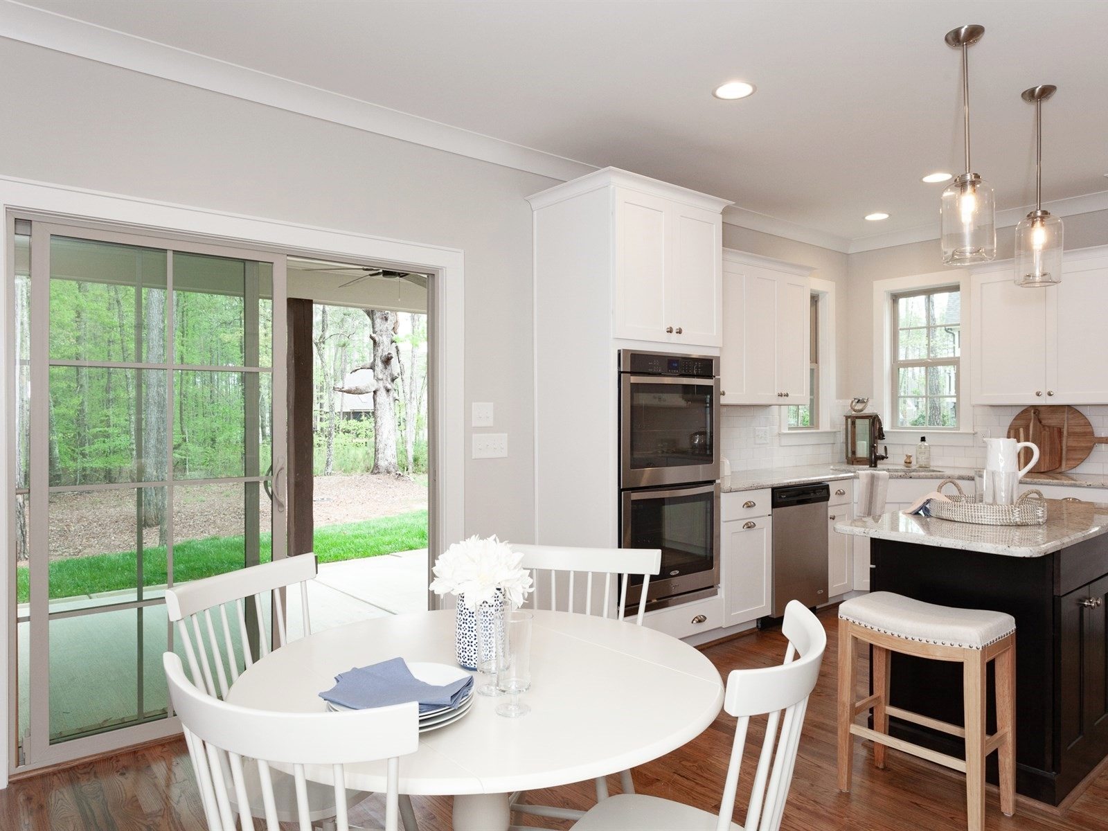 Wake-Forest-Home-Staging-New-Construction-Kitchen-Table