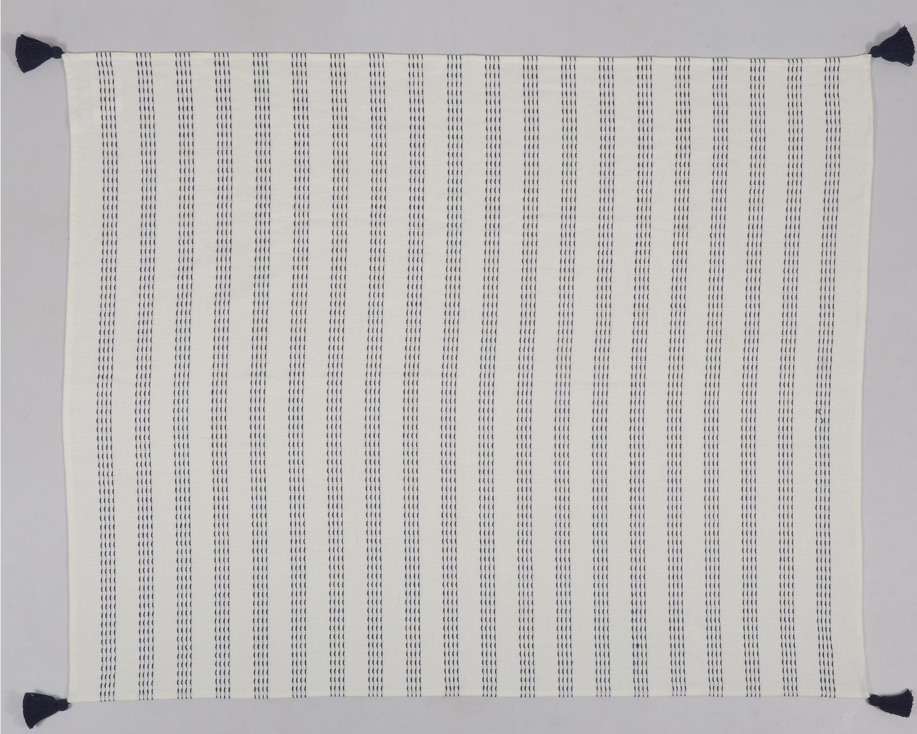 Threshold Throw Blanket with Dotted Stripes Cream - $19.99