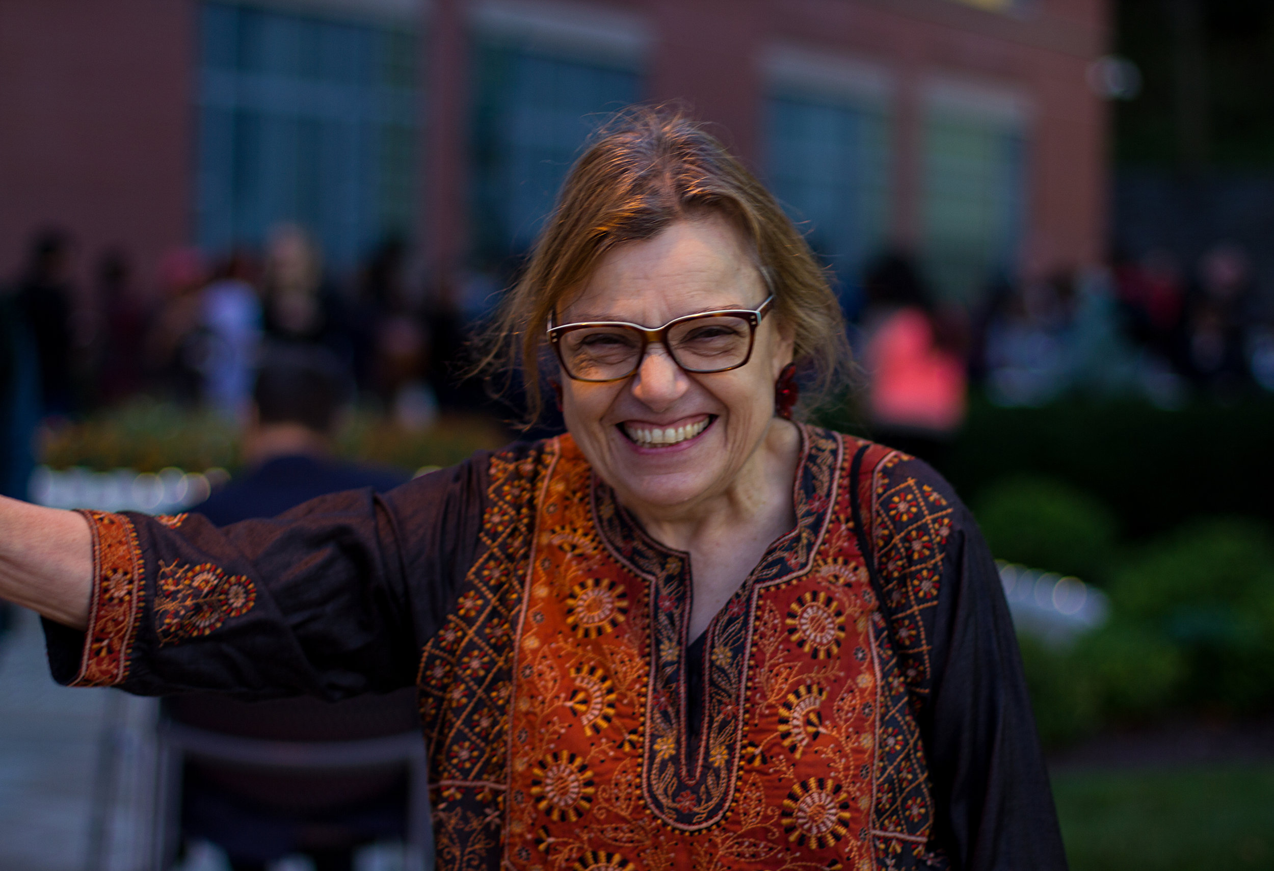 Joanne Waghorn is a professor at Syracuse University and teaches religion. She has been teaching for more than three decades, previously taught Hinduism at University of North Carolina. Photo by Hanna Benavides.