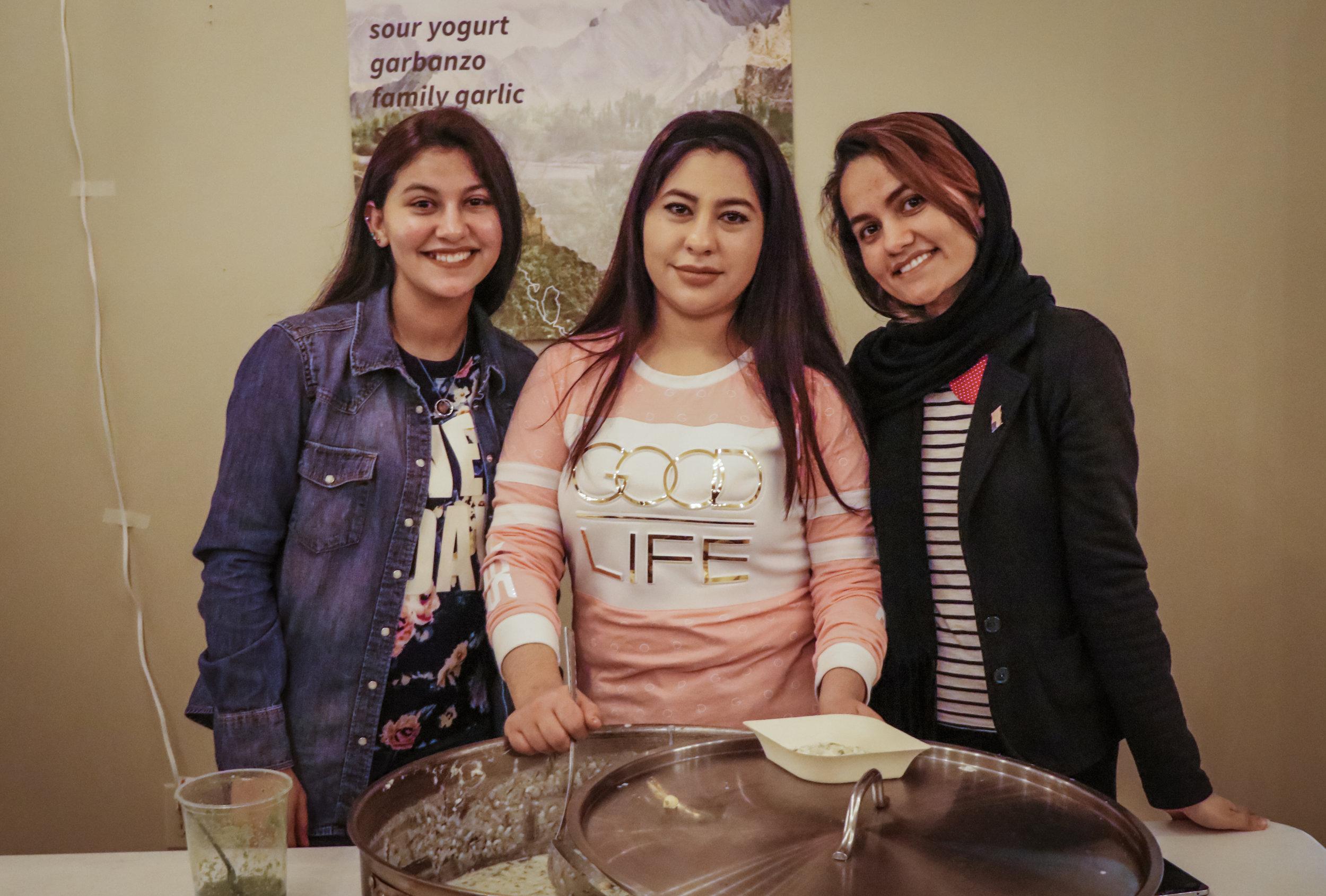 Tamana Tajik and her sisters