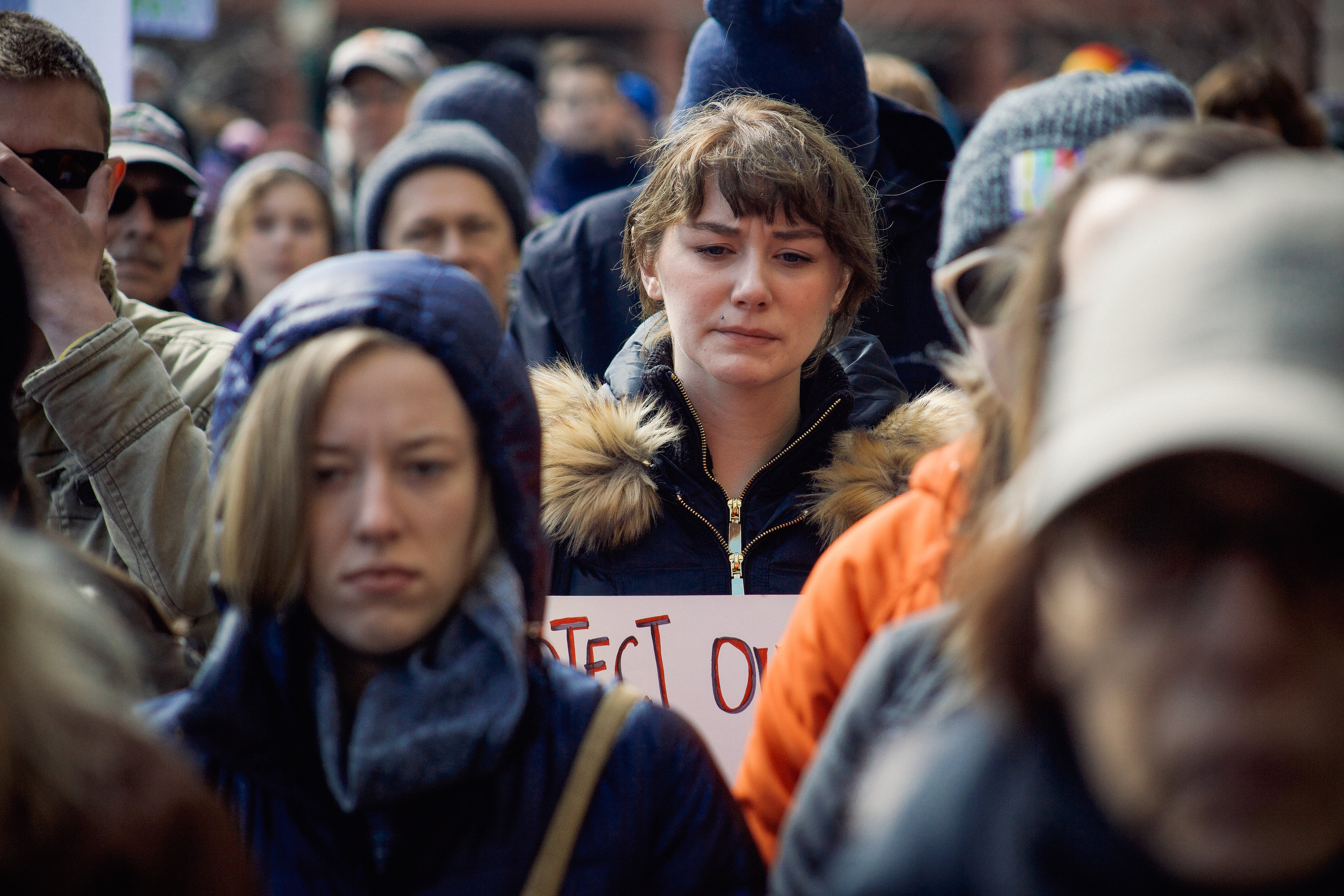 March For Our Lives in Downtown Syracuse. Photo by Romy Weidner.