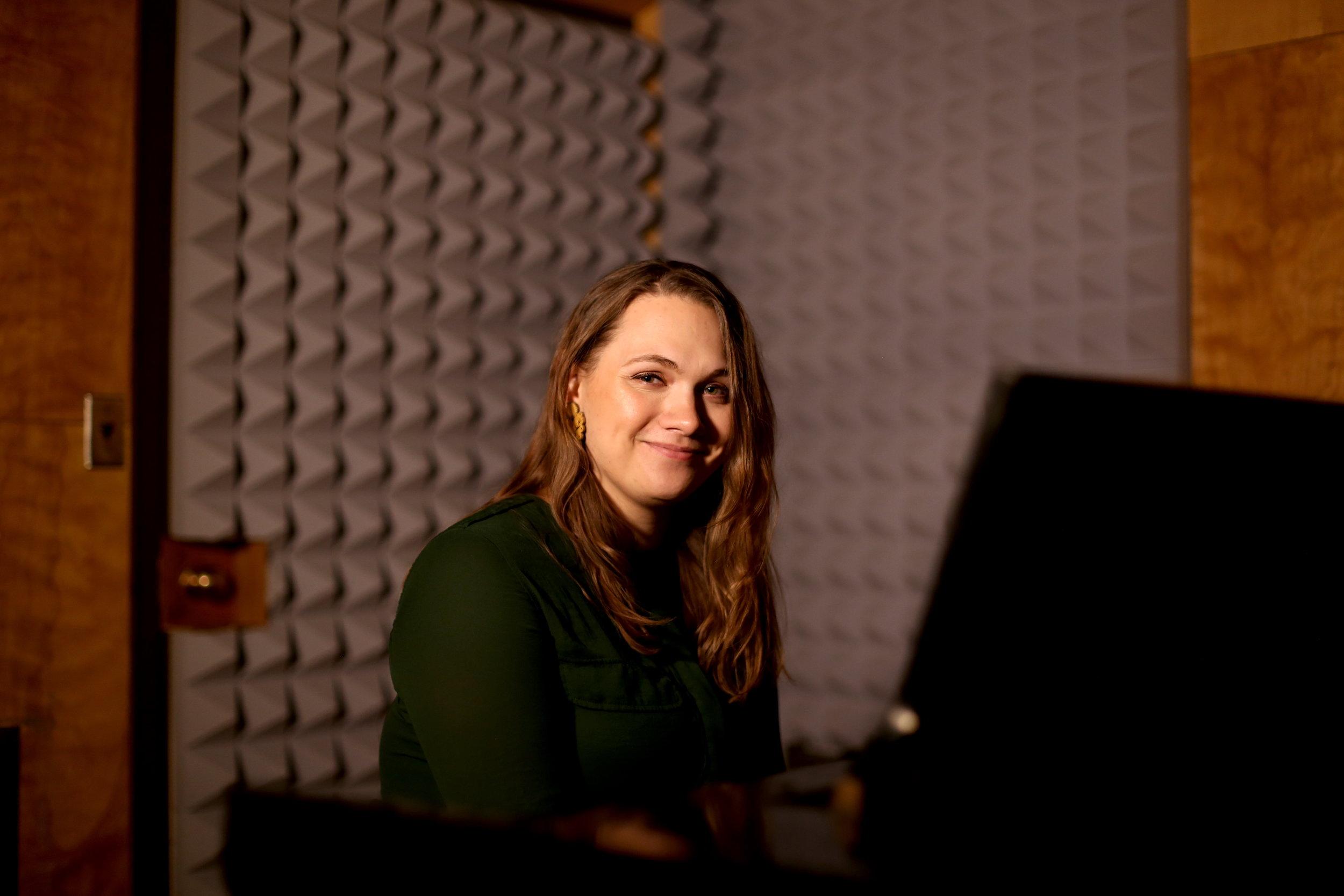 Semaňáková is a Fullbright Scholar studying Audio Arts at Syracuse University. Photo by  Jiaman (Maggie) Peng .