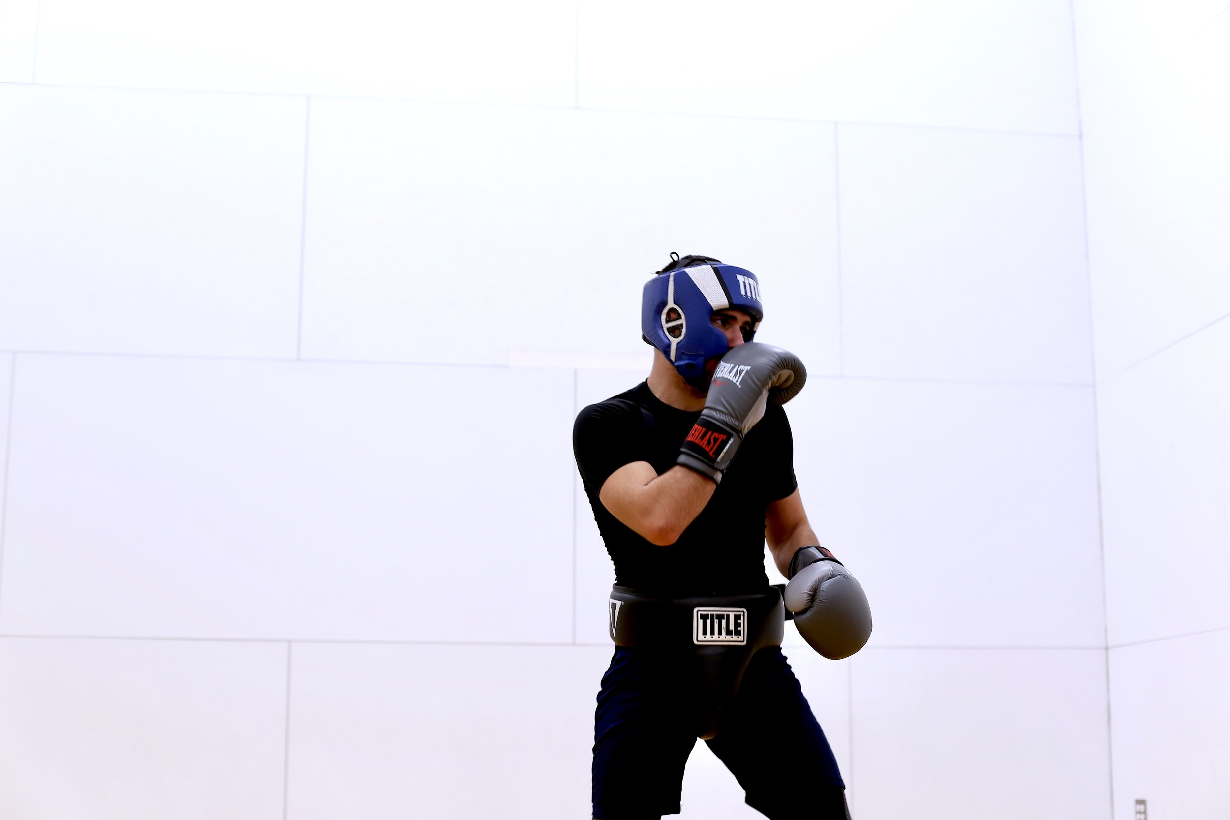 Goergios Michopoulos is captain of the SU Boxing team this year. Photo by  Jiaman (Maggie) Peng .