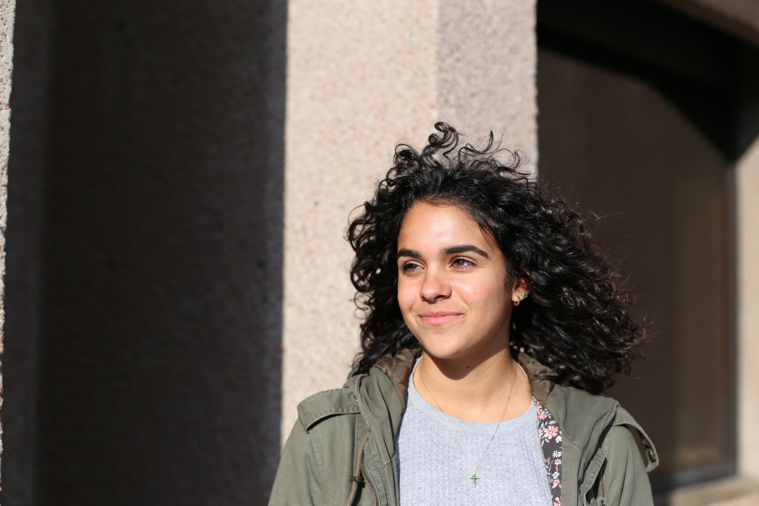 Quintero is a sophomore studying chemistry with an  integrated learning major  in environmental sustainability and policy. She came to Syracuse wanting to do pre-med, but now wants to go into research on climate change and global warming. Photo by  Jiaman (Maggie) Peng .