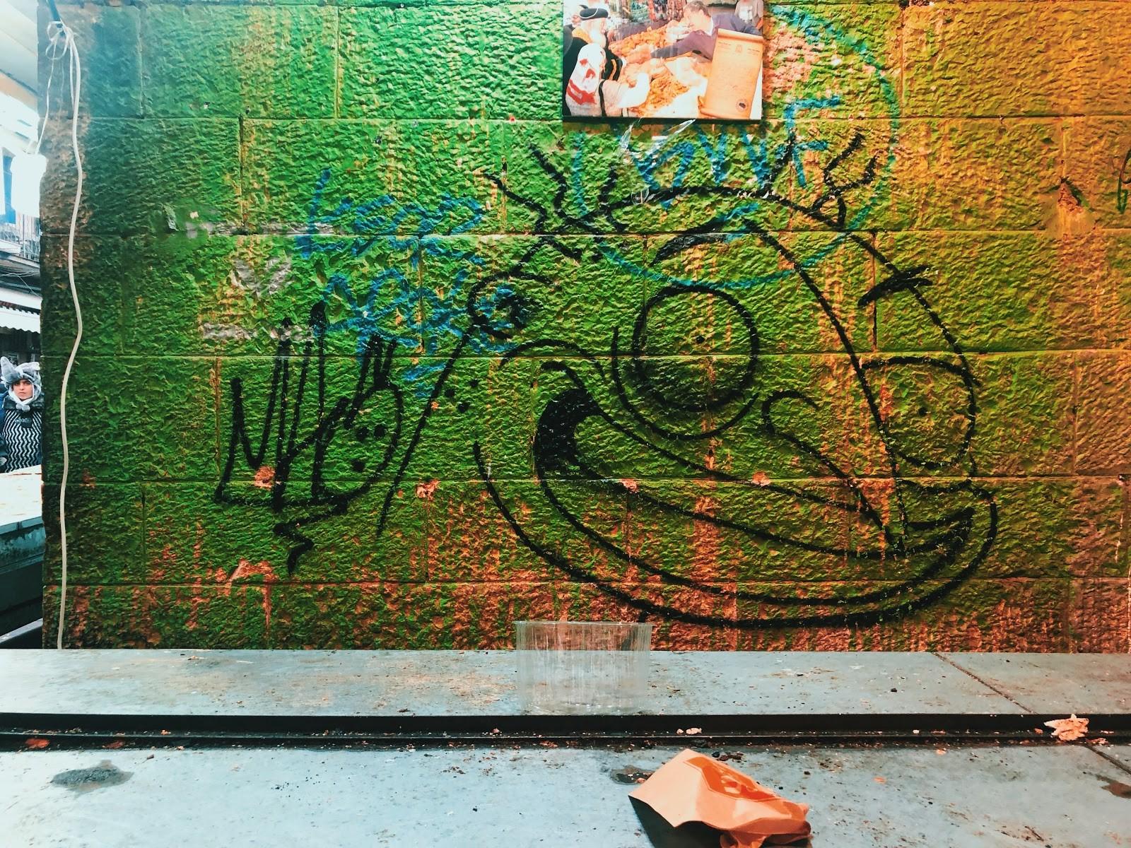 graffiti in the street market in Jerusalem