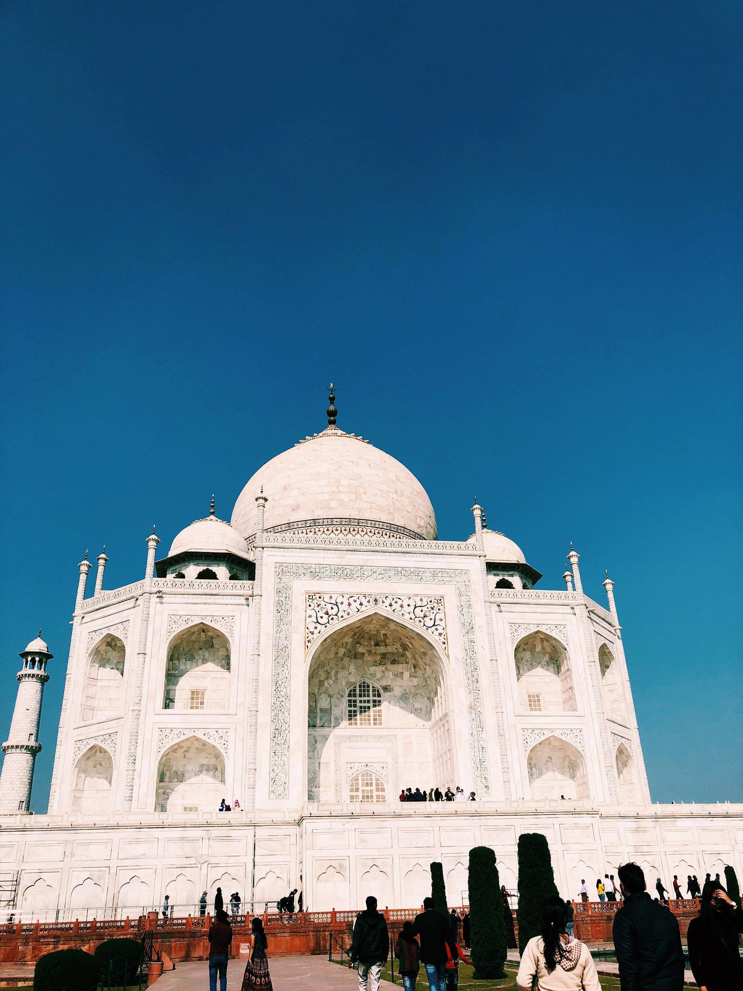 Taj Mahal: Agra, Uttar Pradesh. Photo courtesy:  Ishana Sahabir