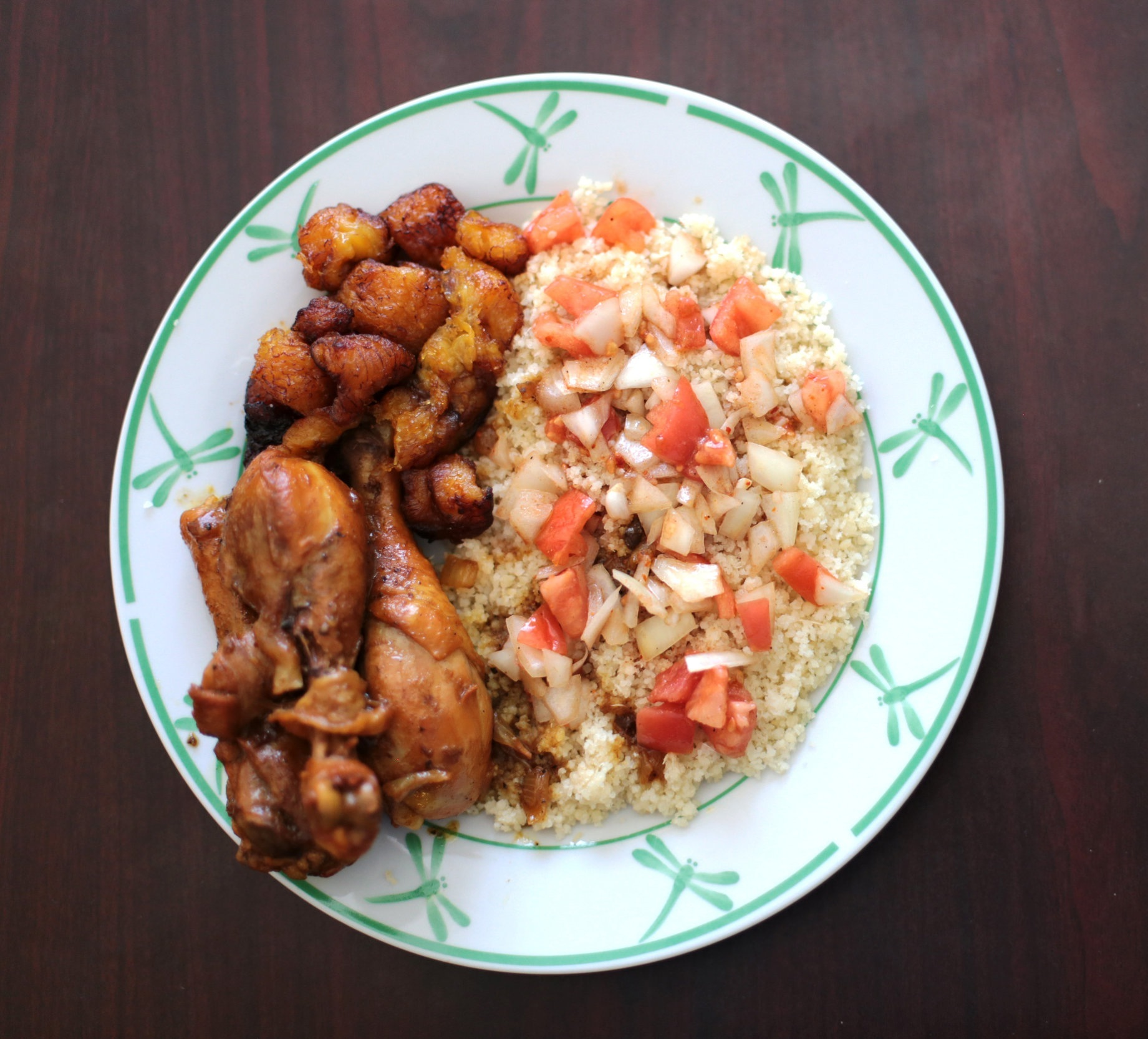 This recipe is provided by Aminata Sanogo. Elements for this dish are based on ingredients and dishes from Côte d'Ivoire, the home of Sanogo's family.