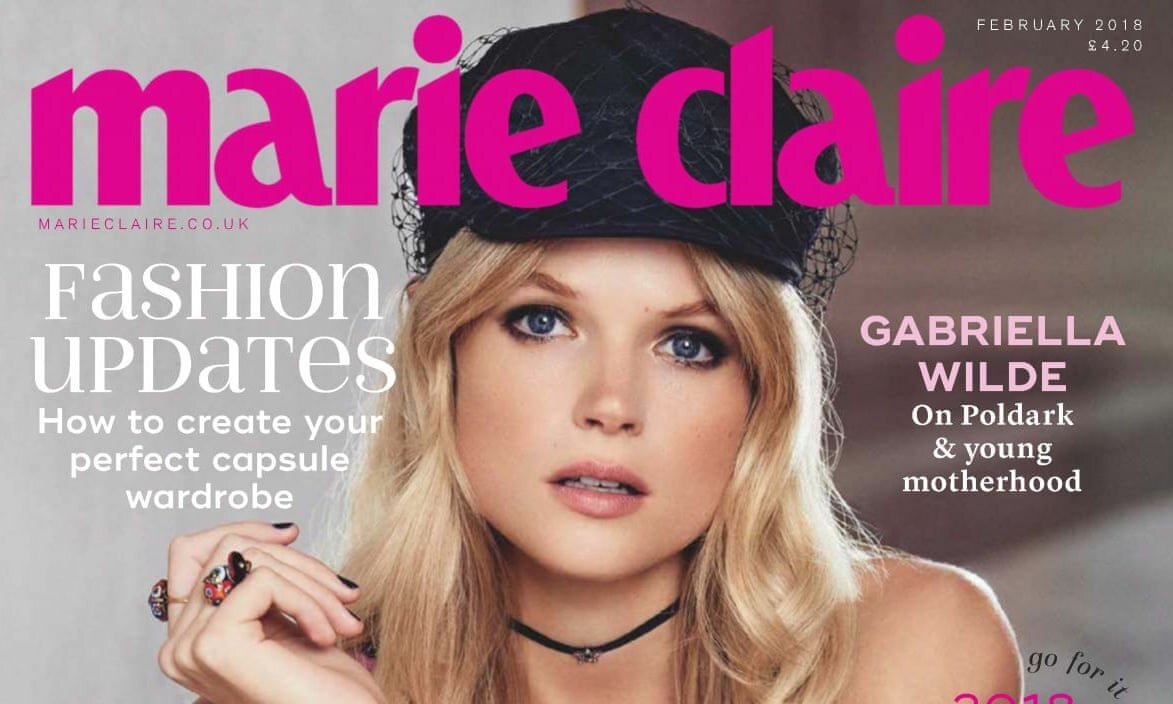 An edition of Marie Claire UK from February 2018. About 35% of the magazine's circulation is given away. Photo Courtesy: Marie Claire