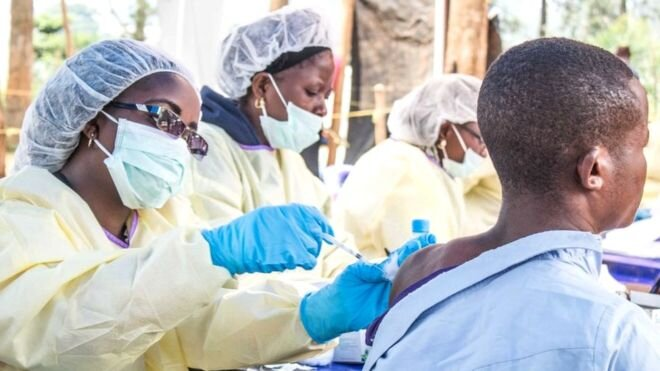 Health workers among others who had contact with Ebola patients received the new vaccine. Photo courtesy: Getty Image