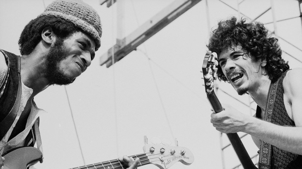 Carlos Santana performing with bassist David Brown. Photo Courtesy: Tucker Ransom | Getty Images