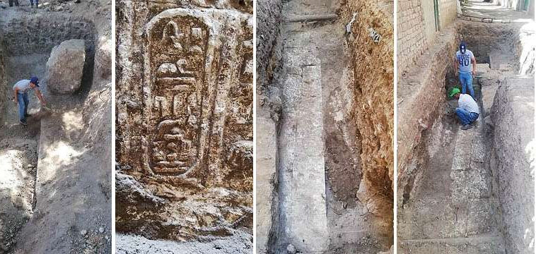 Egypt claimed that sanitation workers discovered an unexpected remains of a 2,200-year-old temple, which may belong to Pharaoh Ptolemy IV, the fourth Pharaoh of Ptolemaic Egypt from 221 to 204 B.C. Photo courtesy: Egypt Ministry of Antiquities