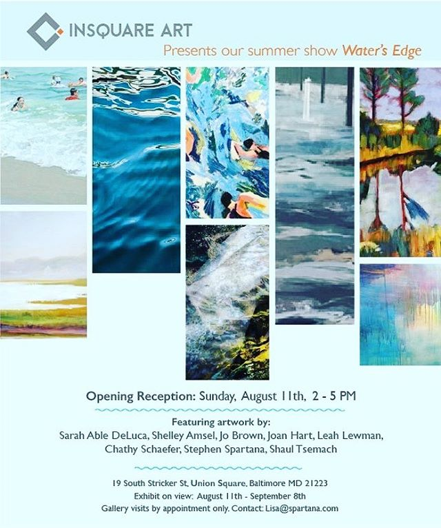 """Water's Edge"" Hangs soon at @insquareart, a new gallery in #BaltimoreMD. My work is featured along with a group of other talented artists working with water as inspiration! Show opens Sunday, August 11, from 2-5 PM. Come check it out! . . . https://www.facebook.com/events/484181812392143/?event_time_id=484181815725476?ti=icl . . . . . #art #baltimoregallery #bmoreart #bmoreartist #marylandartist #mdarts #painting #water #flood #mixedmedia #ellicottcitymd #flooding #waterart #insquareart #visitmaryland #visitbaltimore"
