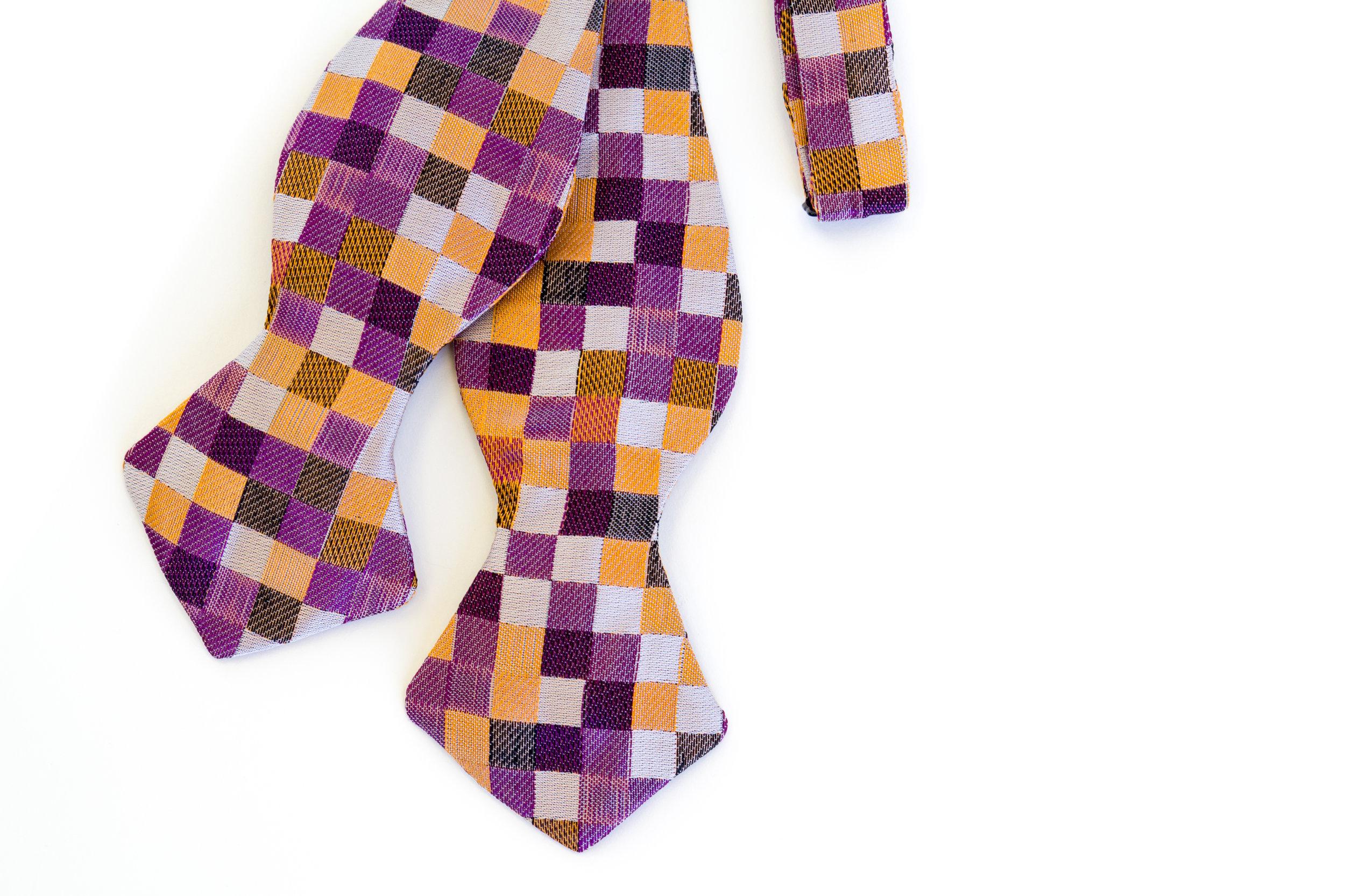 Block Print silk custom Rachel Park Designs bow tie