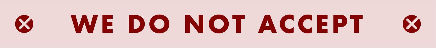do not accept