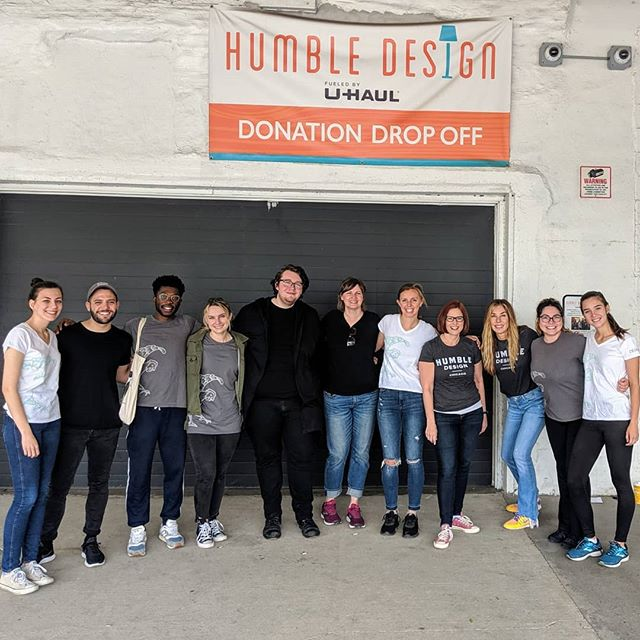 @designbandb is back for another #dayofservice ready to help change another family's life. #humbledesign #chicago #giveback #dogood