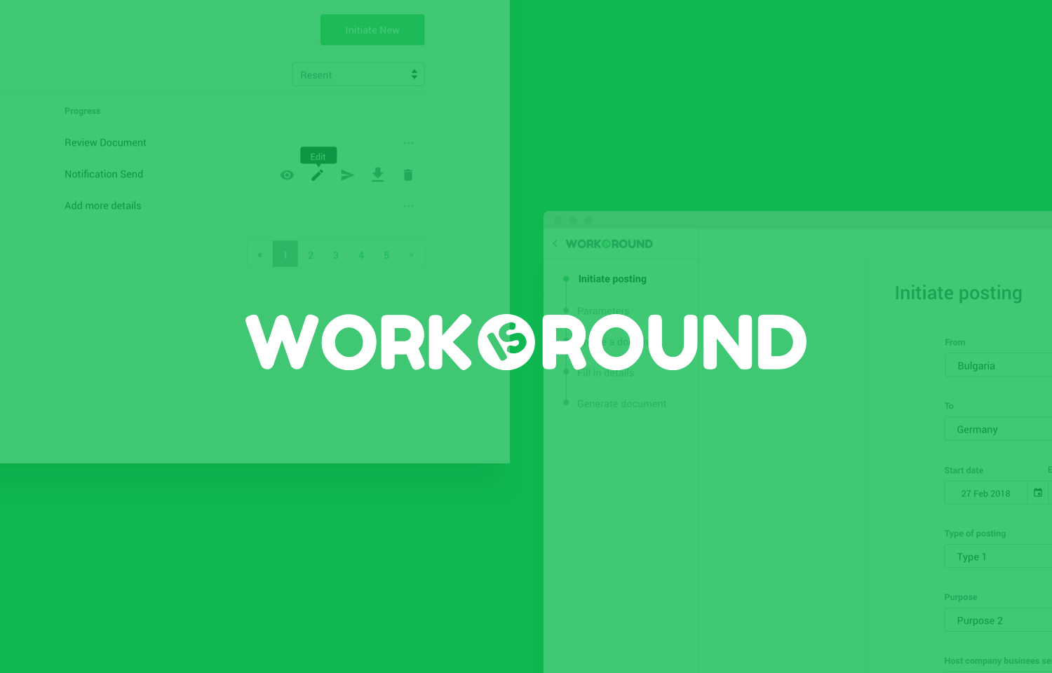 Work is round  HR Web App