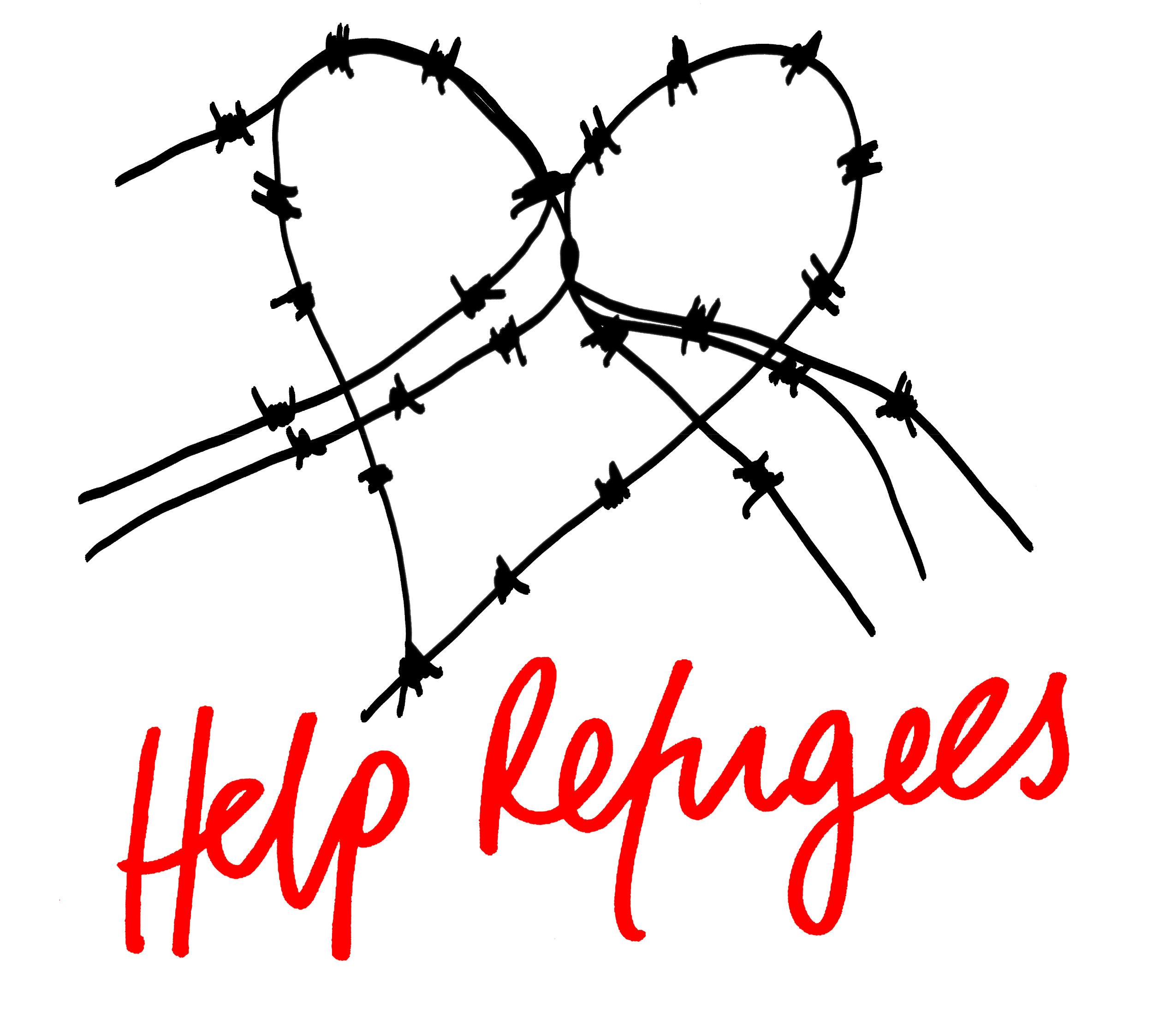 Help Refugees logo, Hayden Kays
