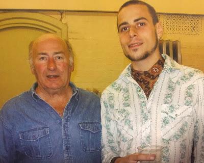 Oli with his dad, John Speer, aka Papa Sausage