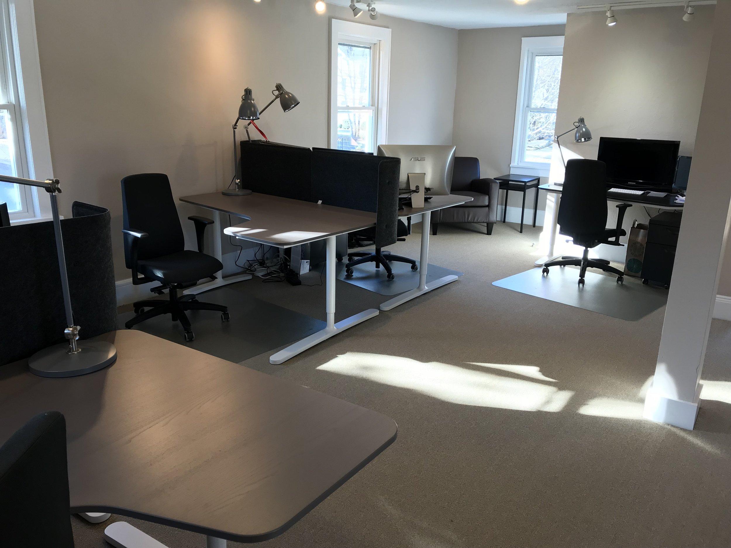Second floor dedicated desks