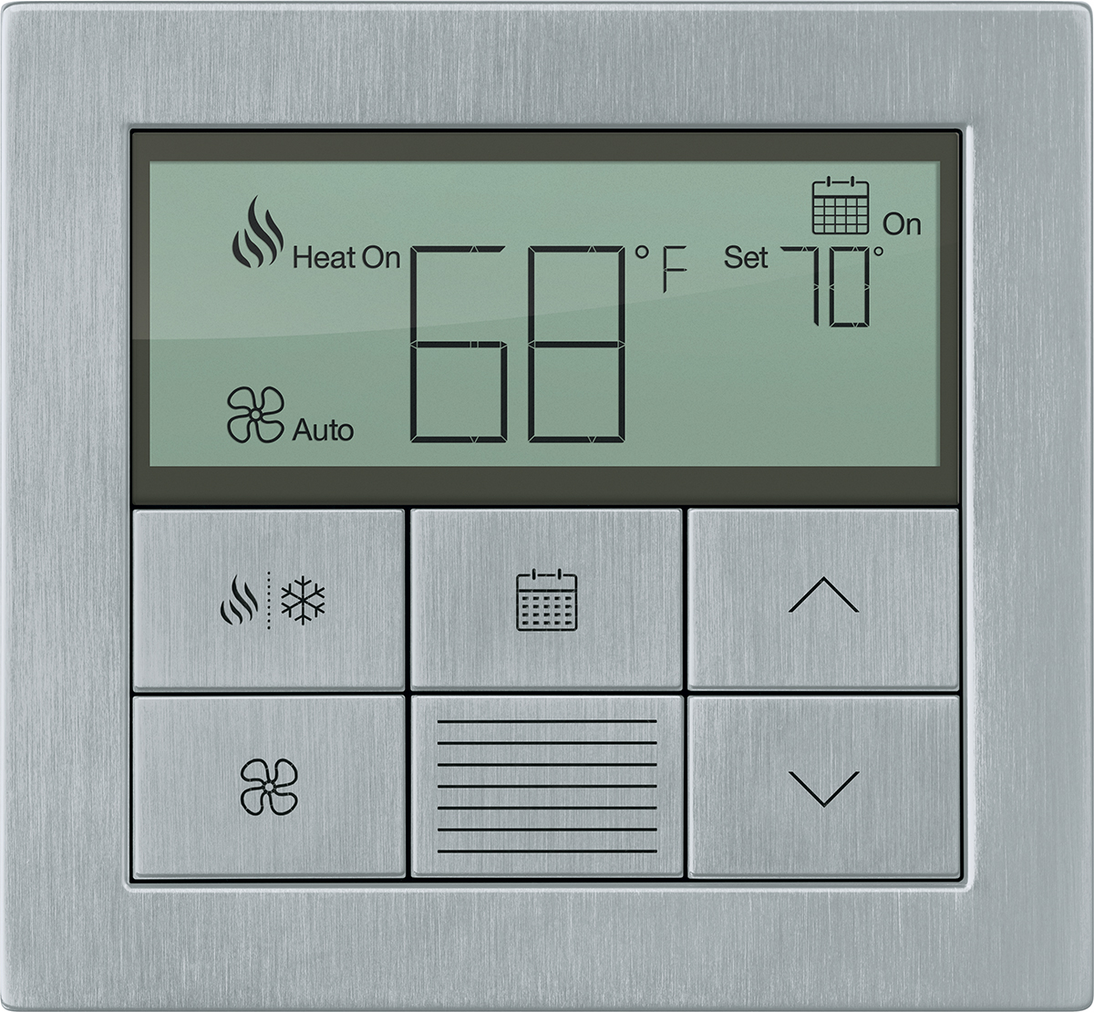 Lutron HVAC control - Lutron thermostats integrate nicely with the Lutron Home App. Track your usage, program certain times of the day to provide comfort when you need it, and save energy when you aren't around. The App easily allows you to turn each zone on or off remotely when you aren't home, or on your way home. Imagine you're on the way to the airport and you remember that the heat is programmed to come on on a schedule. Quickly pull out your phone and turn the away scene on, turning heat zones down, and triggering an away lighting and shade scene to imitate someone home for security.