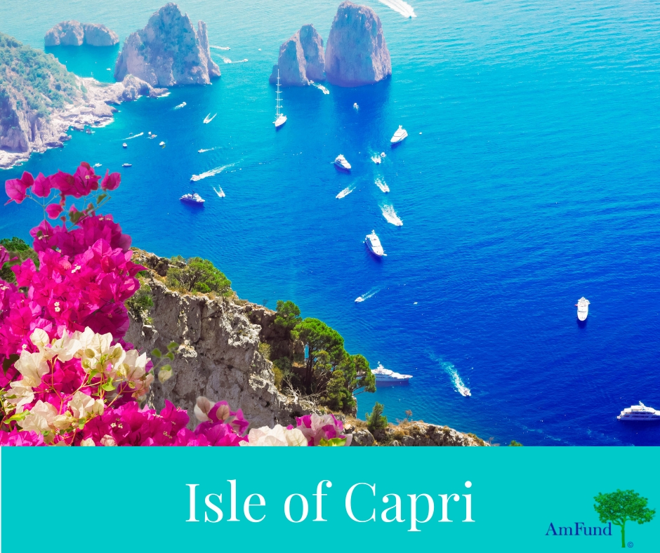 4 Star Isle of Capri - What better way to renew romance than in the most romantic place on earth... the breathtaking Isle of Capri, Italy where you will spend a glorious time drinking in the beauty and glamour of the island surrounded by the sparkling crystal clear blue Mediterranean! AmFund Trip*
