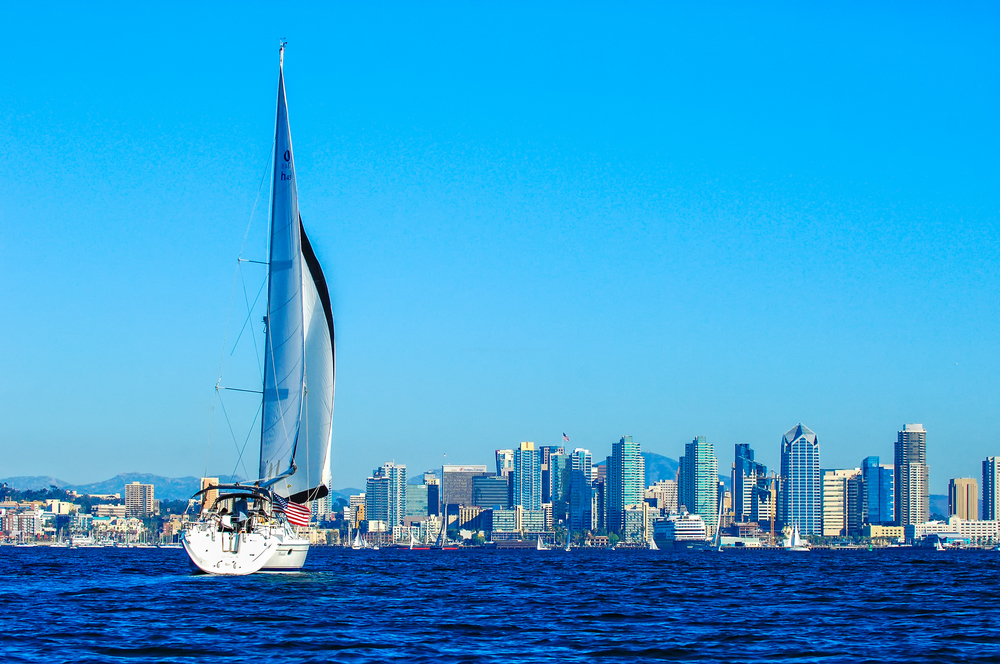 San Diego Sailing - Sail with retired Naval Captain and Point Loma Rotarian, Tim McCully, across San Diego Bay in his 34 ft. Catalina swoop. This four hour excursion will relax and excite you as you gaze on boats, ships, and the beautiful San Diego skyline.Includes two nights hotel in an Executive Corner Suite at DoubleTree Downtown San Diego. $500 VISA card also included.Donors ~ James & Wendy Morrison & Tim McCully