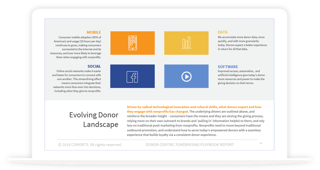 Download the Donor-centric Fundraising Playbook - your guide to a world-class donor experience.