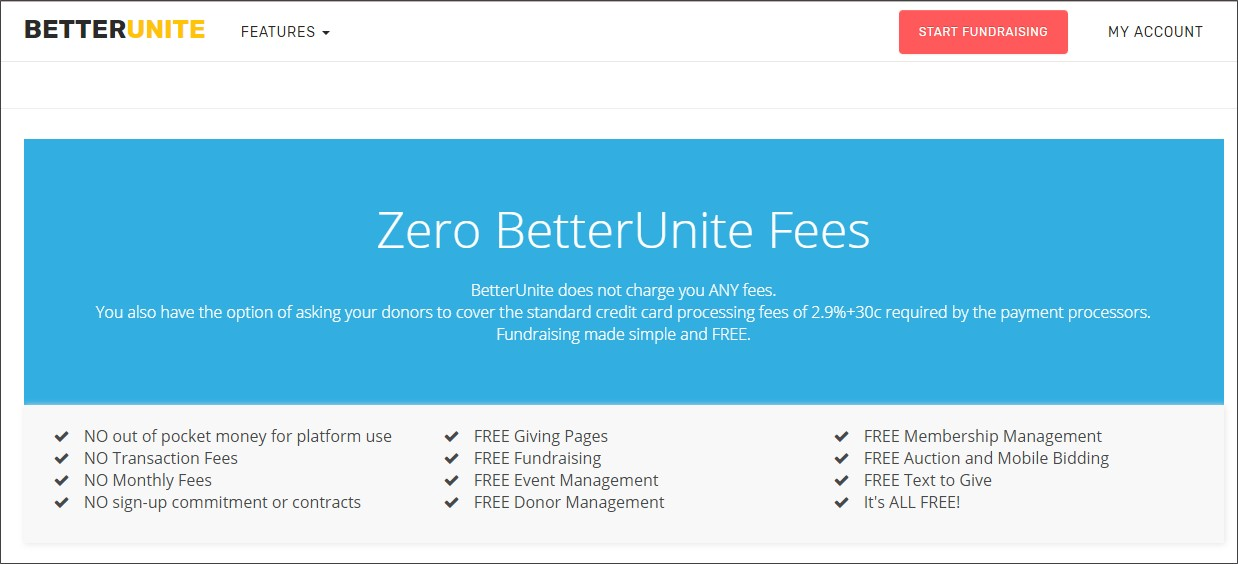 BetterUnite's marketing demonstrating their unique business model - no fees to nonprofits for their fundraising software; instead, donors are asked to tip during the online donation process to pay for the service.  Read the full story .