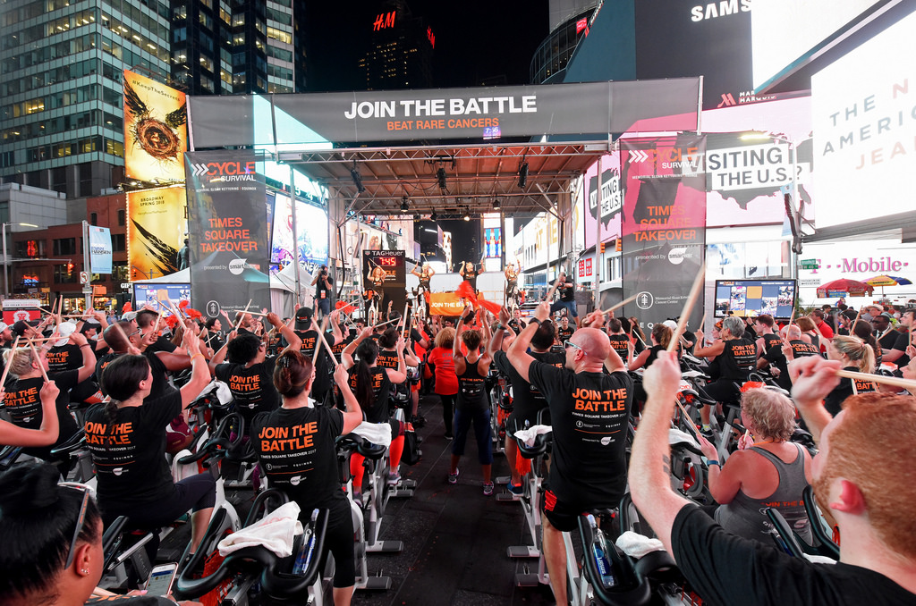 Times Square takeover from 2017 by Cycle for Survival.