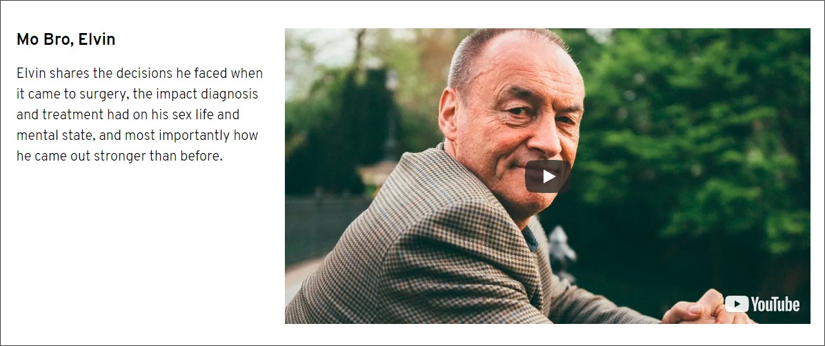 Movember documentary features prostate cancer survivor Elvin.