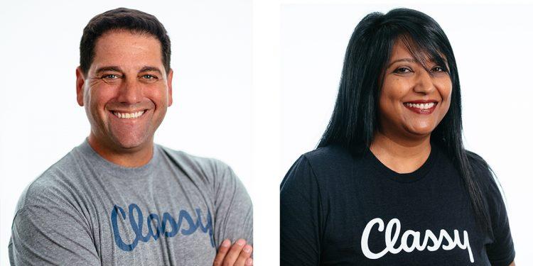 Classy's new exeuctive hires - Adam Aarons CRO/President & Neena Gupta Needel, CPO