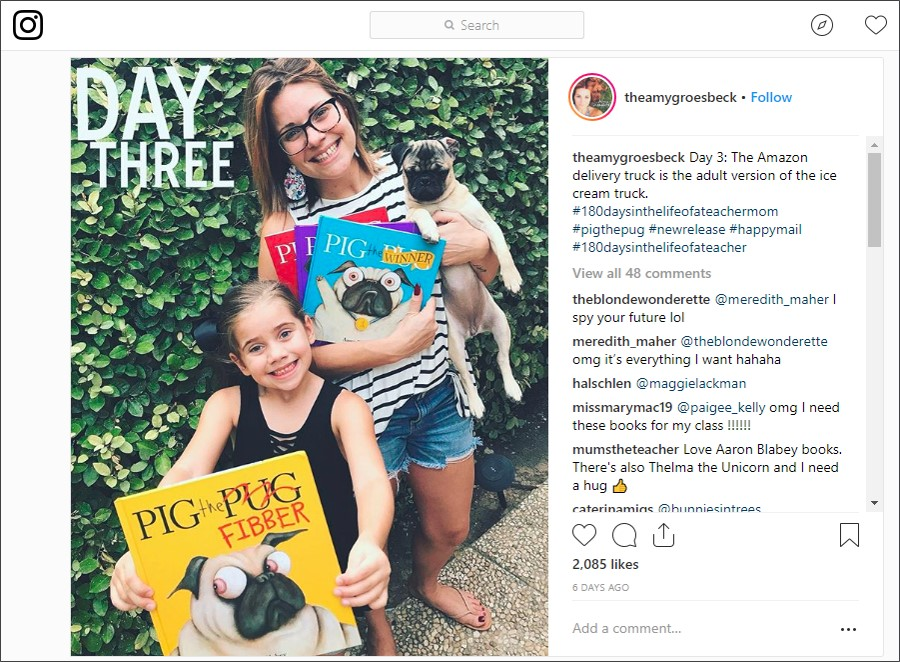 Teacher and Instagram influencer Amy Groesbeck @theamygroesbeck.