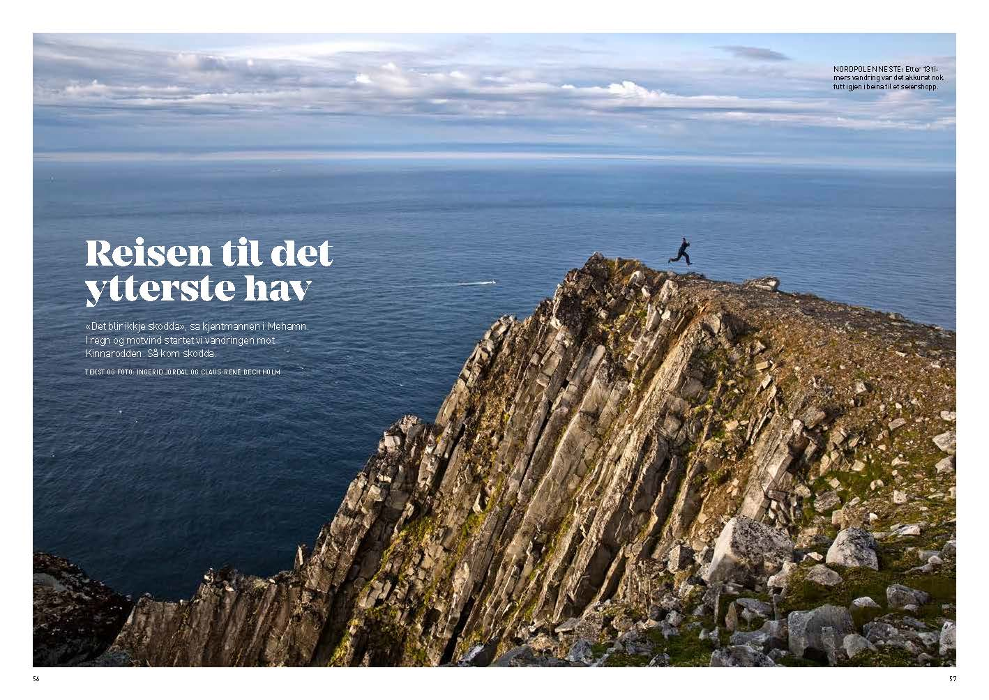 5 pages about a hike to the northernmost part of mainland Europe, Kinnarodden in Norway.