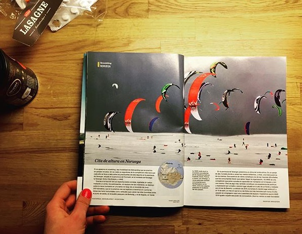 Double page spread on Varanger Arctic Kite Enduro.