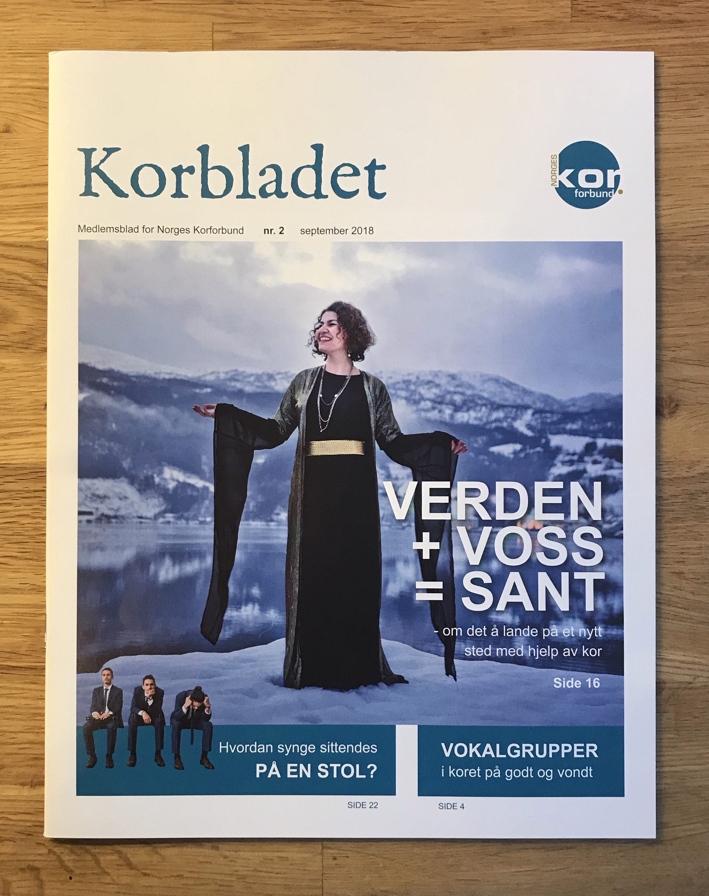 Portrait of kurdish choir singer Dina Bushra Helle in Norwegian Choir Magazine.