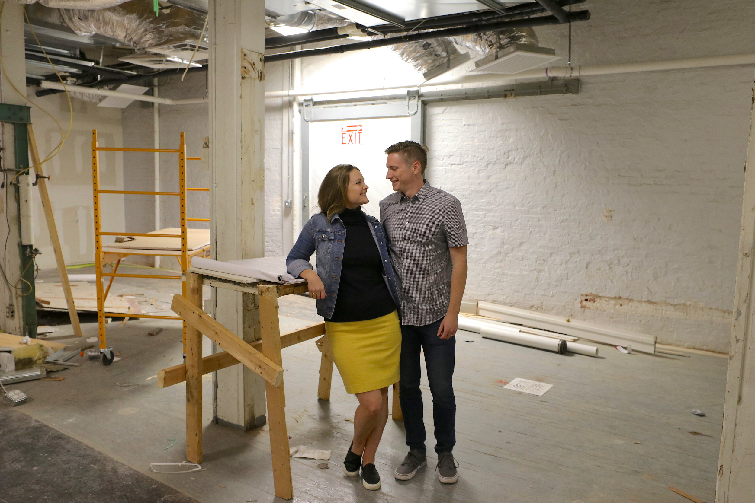MELT owners, Mark and Kari, in their future kitchen space.