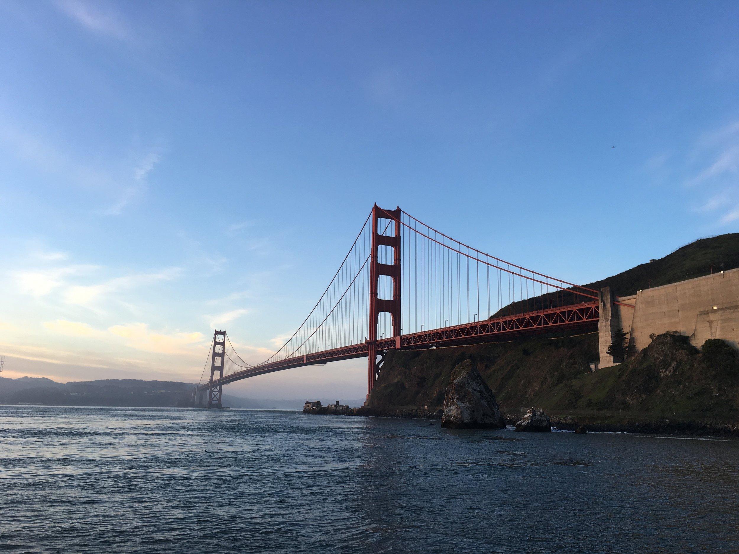 GG Bridge at Sunset