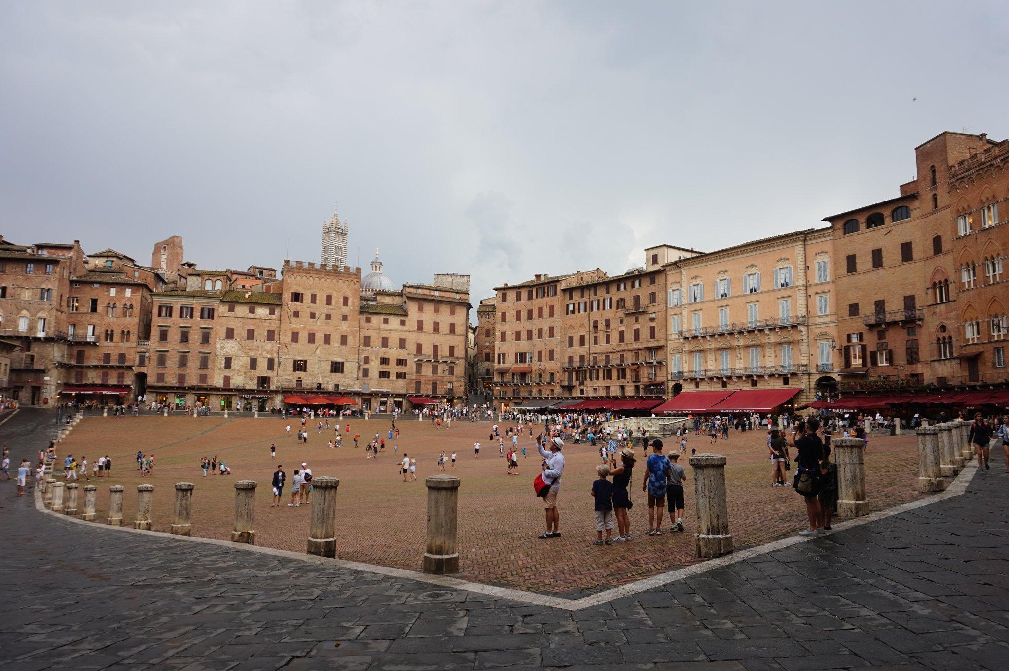 Siena's famous Piazza del Campo
