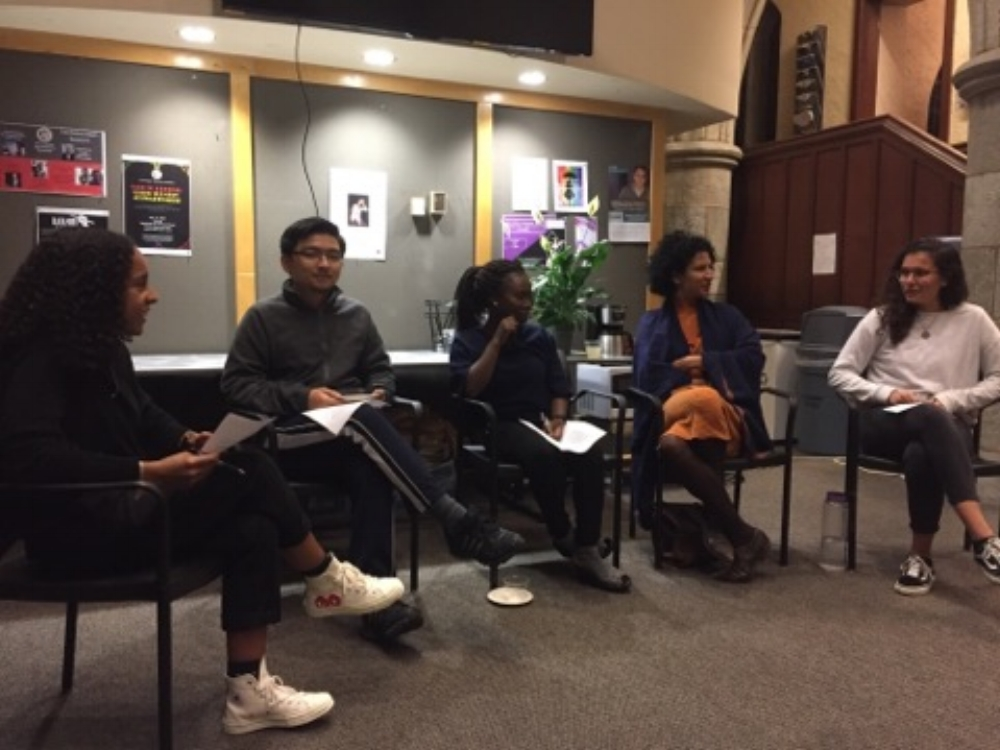"""CIA Week """"Culture Shock and Keeping Identity"""" panel in Intercultural Center (IC)."""