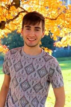 David Falk during his freshman year at Swarthmore. Photo by Ashlen Sepulveda '17, provided by David Falk