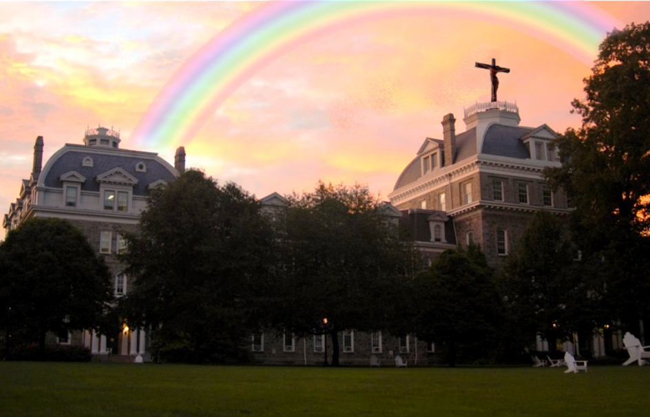 """""""I have set my rainbow in the clouds, and it will be the sign of the covenant between me and the earth."""" ( Genesis 9:13 )"""