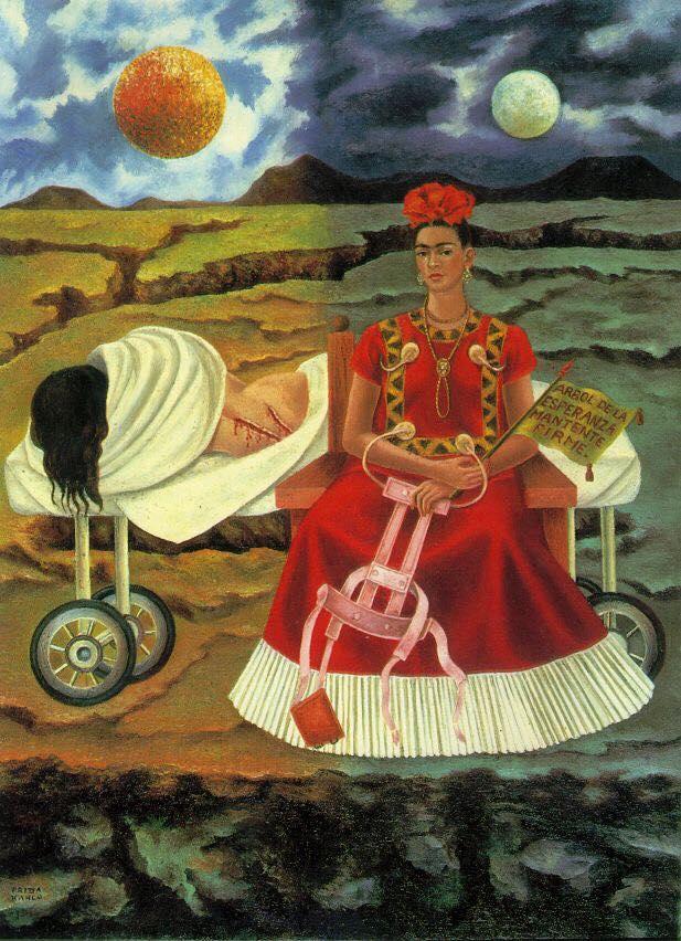 Arbol de la esperanza, mantente firme  or  Tree of Hope, Remain Strong  by Frida Kahlo, 1946.