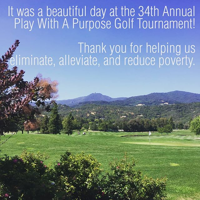 """Golfers from all parts of the Valley gathered yesterday to participate in Catholic Charities of Santa Clara County's 34th Annual Golf Tournament, """"Play With A Purpose."""" The funds raised will support programs that provide help to individuals and families of all cultures and beliefs struggling to overcome poverty.  #workingtoendpoverty #playwithapurpose"""